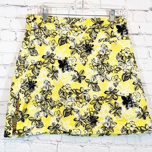 Allyson Whitmore GOLF Skirt Yellow flowers